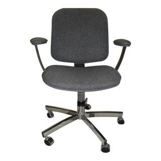 Vintage Chrome Swivel Executive Office Chair