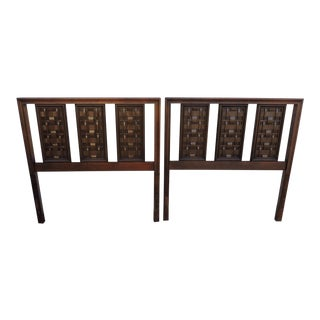 Mid Century Modern Pair of Twin Size Headboards For Sale