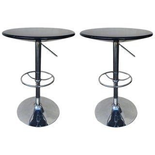 Contemporary Modern Cocktail Chrome Cocktail Tables - a Pair For Sale