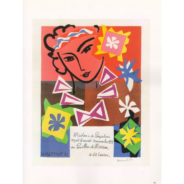 "Paper Henri Matisse Vintage 1989 Lithograph Print "" Bal Arts Decoratifs Mourlot "" 1951 For Sale - Image 7 of 10"
