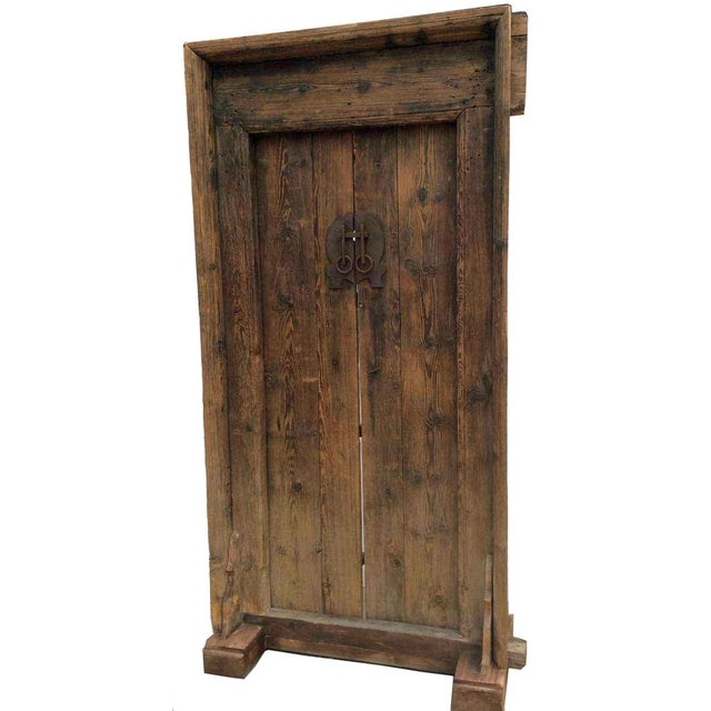 Asian Mid-19th Century Antique Asian Wood Door For Sale - Image 3 of 7