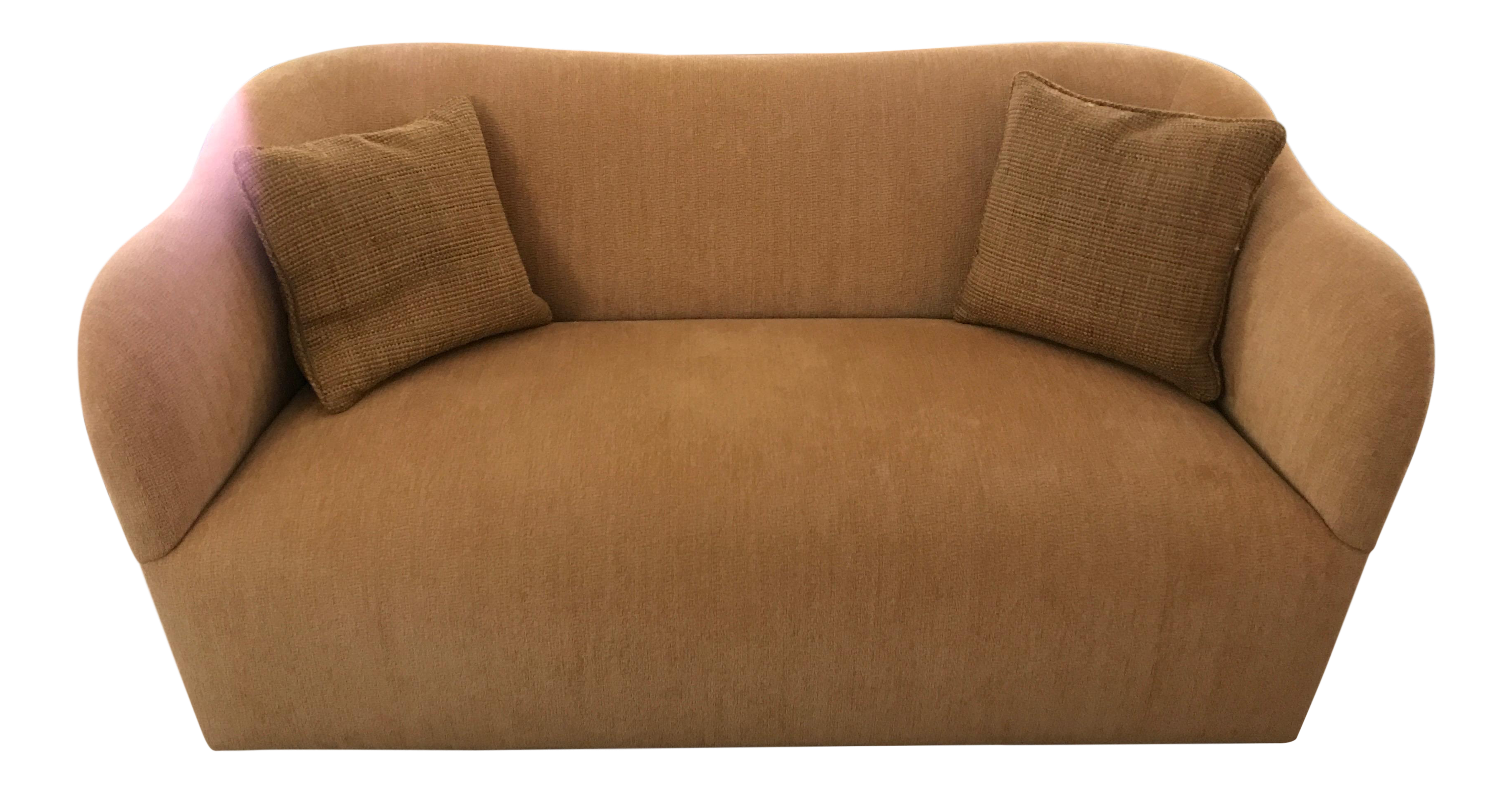 Incroyable J. Robert Scott Gold Wave Settee