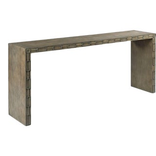 Woodbridge Tapered Leg Caymus Console For Sale