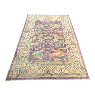 1980s Turkish Oushak Rug - 6′5″ × 9′10″ For Sale