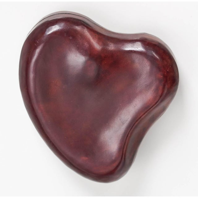 Italian Elsa Peretti for Tiffany & Co. Leather Heart Box For Sale - Image 3 of 6