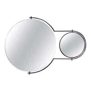 Modernist Wall Dual Swivel Mirror Rodney Kinsman for Bieffeplant, 1980s For Sale