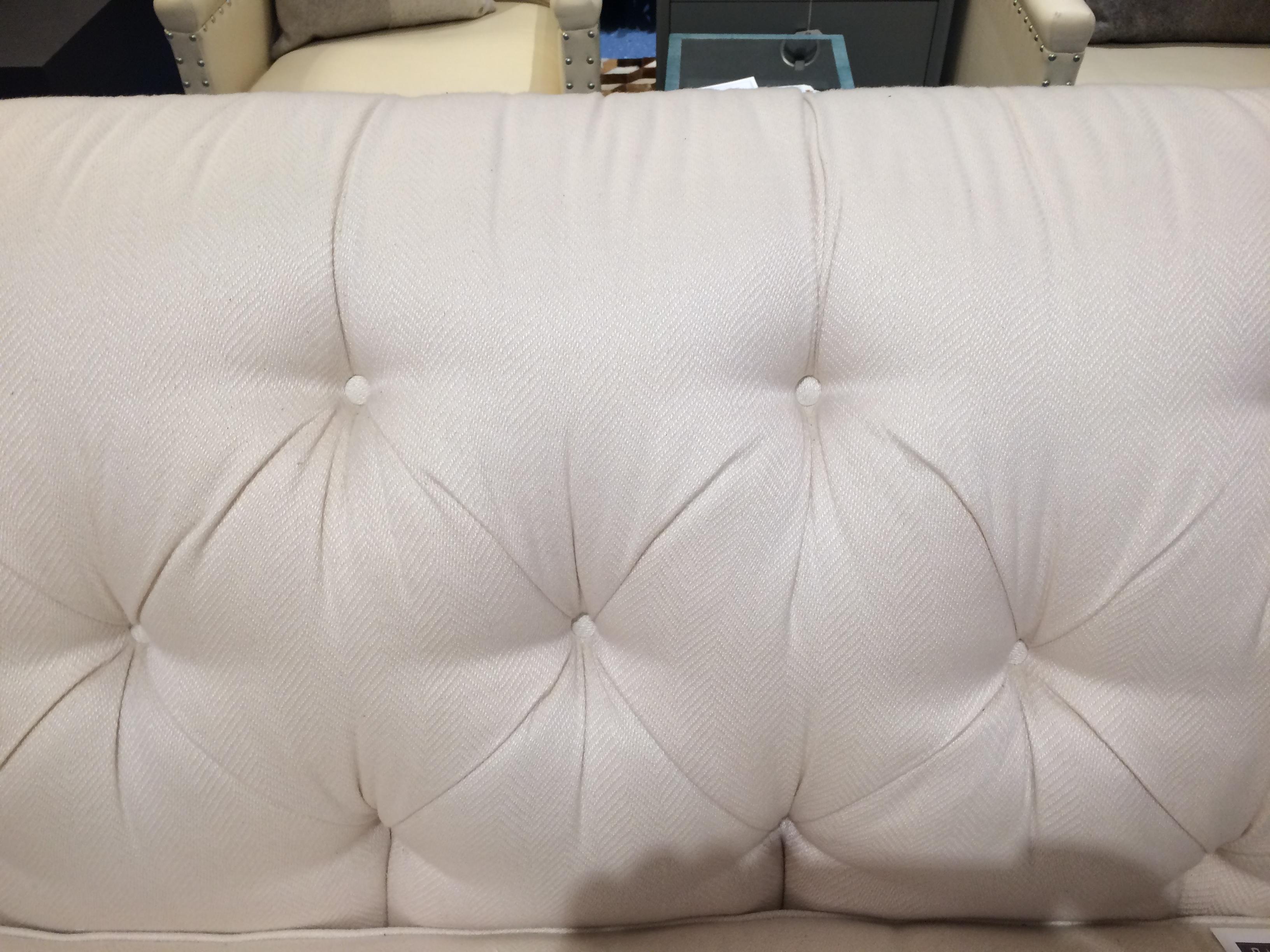 CR Laine Chesterfield Sofa White Sunbrella Fabric   Image 5 Of 11