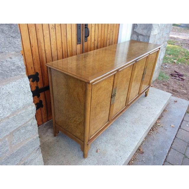 Baker Furniture Company Vintage Baker Burled Credenza For Sale - Image 4 of 11