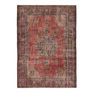 Ardibel Design Distressed Vintage Turkish Carpet | 7'1 X 10'2 For Sale