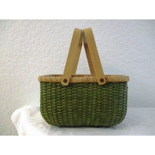 Mid-Century French Country Handled Basket with Fruit Preview