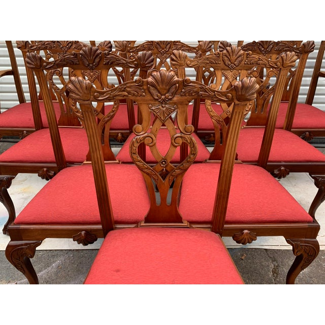 Set of 10 Ball and Claw Chinese Chippendale Style Dining Chairs For Sale - Image 11 of 12