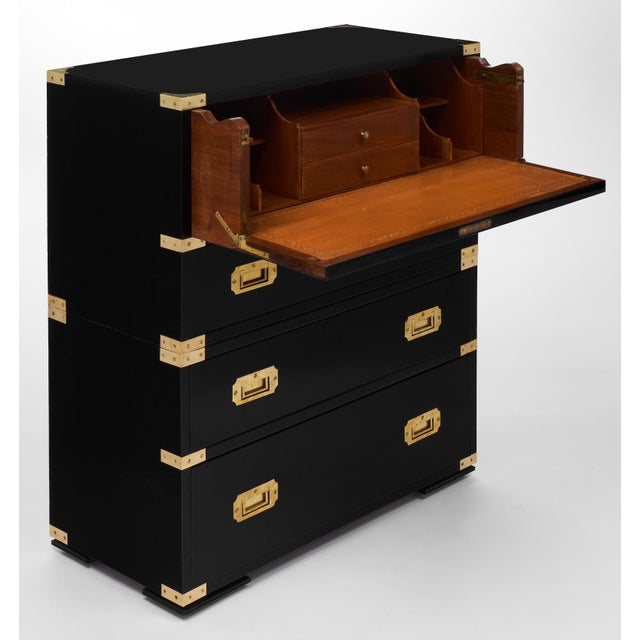 English Campaign Style Secretary Chest - Image 3 of 11