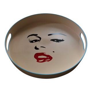 Marilyn Monroe Inspired Pop Art Bar Tray For Sale