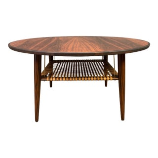 Vintage Danish Mid Century Modern Rosewood Coffee Table in the Manner of Johannes Andersen For Sale