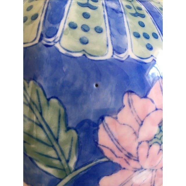 Vintage Large Chinoiserie Blue Ginger Jar & Lid - Image 8 of 10