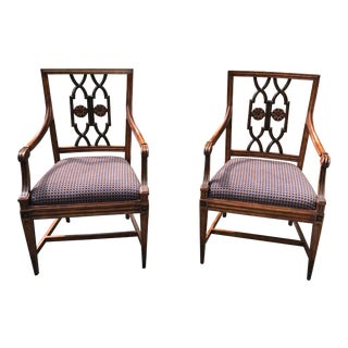 1900s Chippendale Style Armchairs - a Pair For Sale