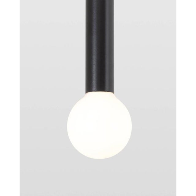 Current Contemporary Strike Modern Solid Brushed Brass Adjustable Pendant Light For Sale - Image 4 of 7