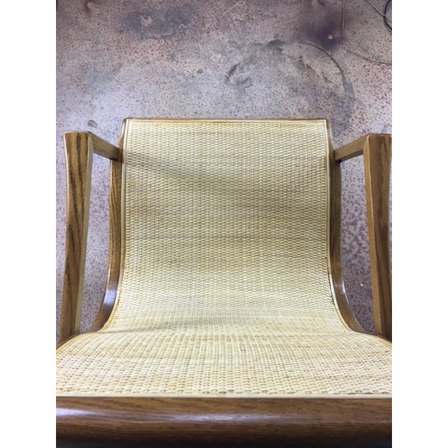 Oak Cane Sling Side Chair - Image 6 of 8