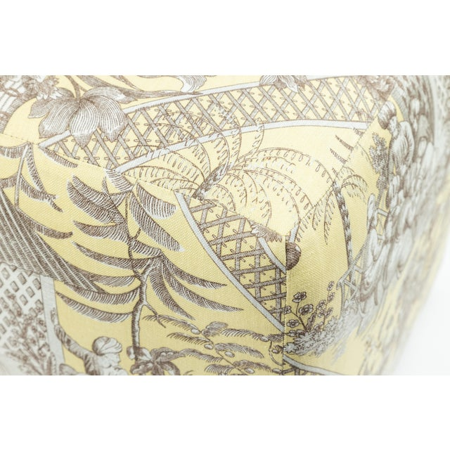 0f Chinoiserie Toile Ottomans - a Pair For Sale - Image 9 of 10
