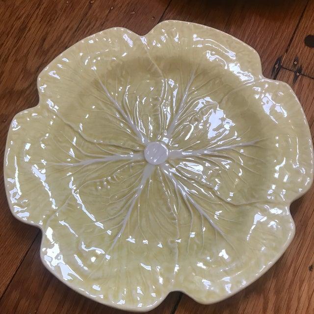 Bordallo Pinheiro Bordallo Pinheiro Yellow Cabbage Charger Plates - Set of 4 For Sale - Image 4 of 10