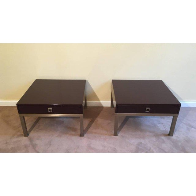 1970s French Pair of Side Tables by Guy Lefèvre for Maison Jansen - Image 3 of 11