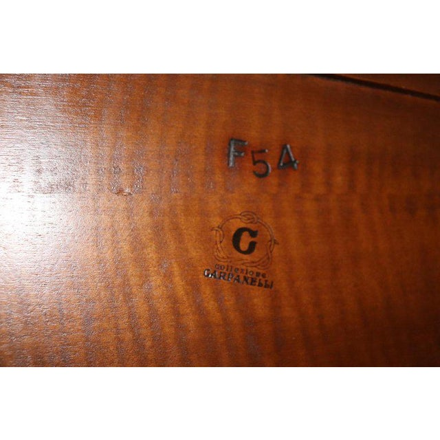 20th Century Italian Design Art Deco Inlaid Wood Double Bed For Sale - Image 10 of 12