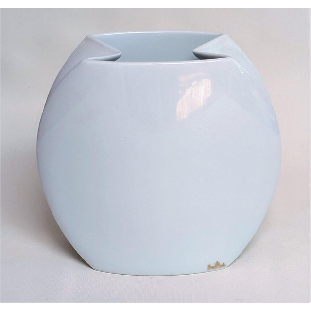 J.V.D. Vaart Rosenthal vase. Made out of white ceramic. Made in Germany in the 2000s