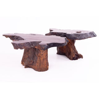 Mid Century George Nakashima Style Live Edge Side End Tables - Pair Preview