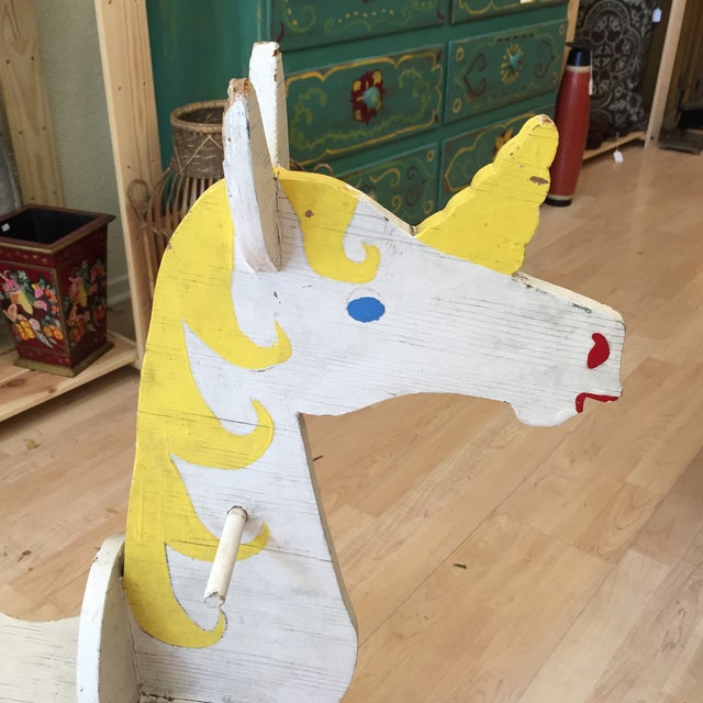 Hand Made Rustic Rocking Unicorn - Image 3 of 6