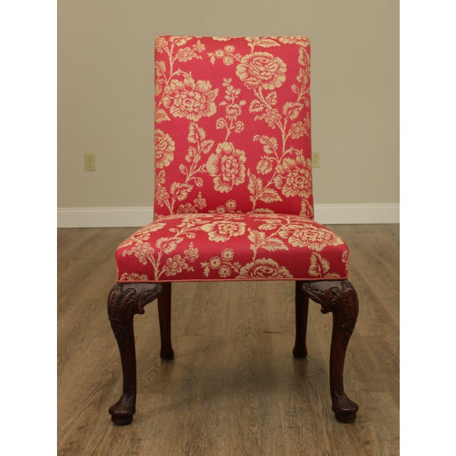 Georgian Style Custom Quality Carved Mahogany & Upholstered Set 10 Dining Chairs For Sale - Image 11 of 13