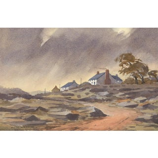 Mid 20th Century California Landscape Watercolor Painting For Sale