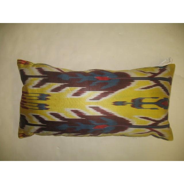 Yellow Ikat Lumbar Pillow - Image 2 of 3