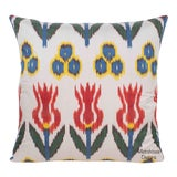 Image of Silk Atlas Accent Throw Pillow For Sale