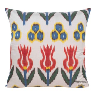 Silk Atlas Accent Throw Pillow For Sale