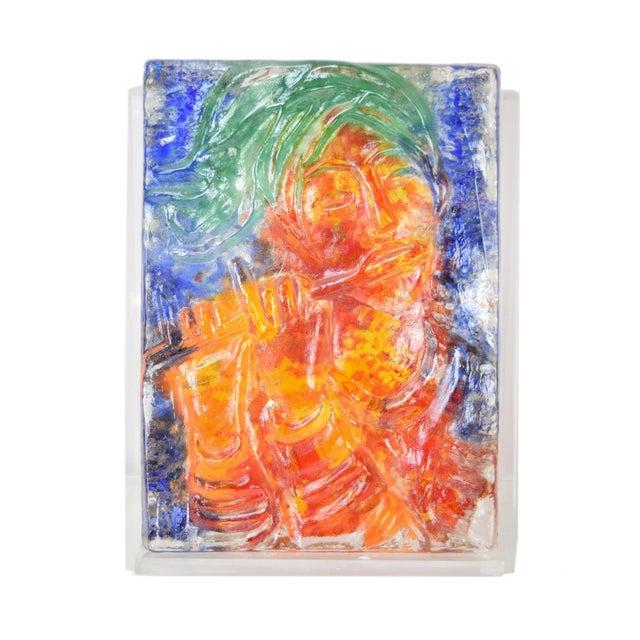 "1970s Vintage ""The Flutist"" Reuven Rubin & Egidio Constantini Art Glass Sculpture For Sale - Image 10 of 10"