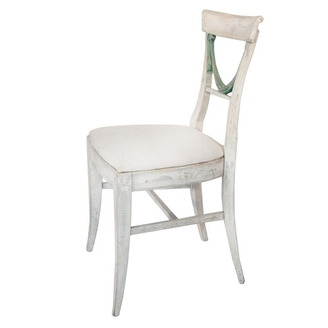 Early 20th Century Set of Four Gustavian Style Chairs For Sale - Image 5 of 10