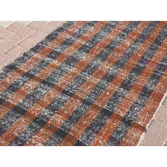 "Vintage Turkish Kilim Runner2'7'x18'6"" For Sale - Image 9 of 13"