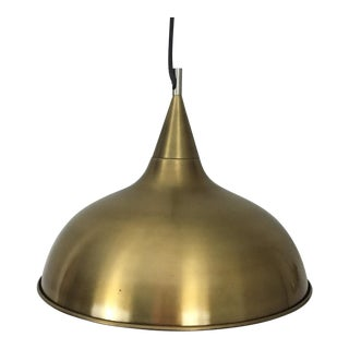 Modern Crate & Barrel Gold Metal Pendant Light