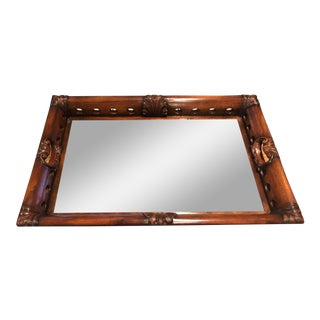 John Richard Mirrored Wood Serving Tray For Sale