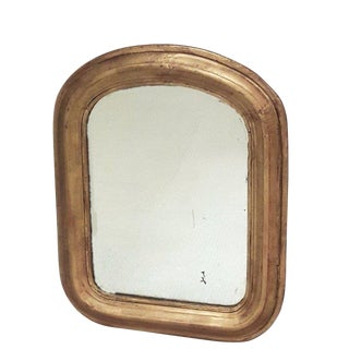 Small Antique Louis Philippe Gilt Mirror French Gold Mirror For Sale