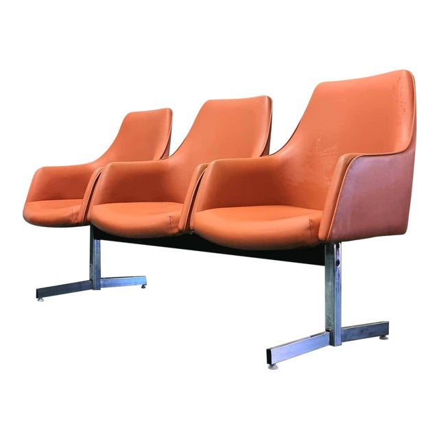 Mid Century Tandem Bench by Jansko of California For Sale