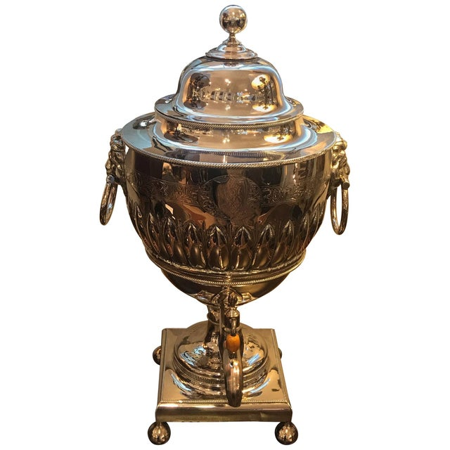 19th Century English Silver Plate Tea Urn For Sale - Image 11 of 11