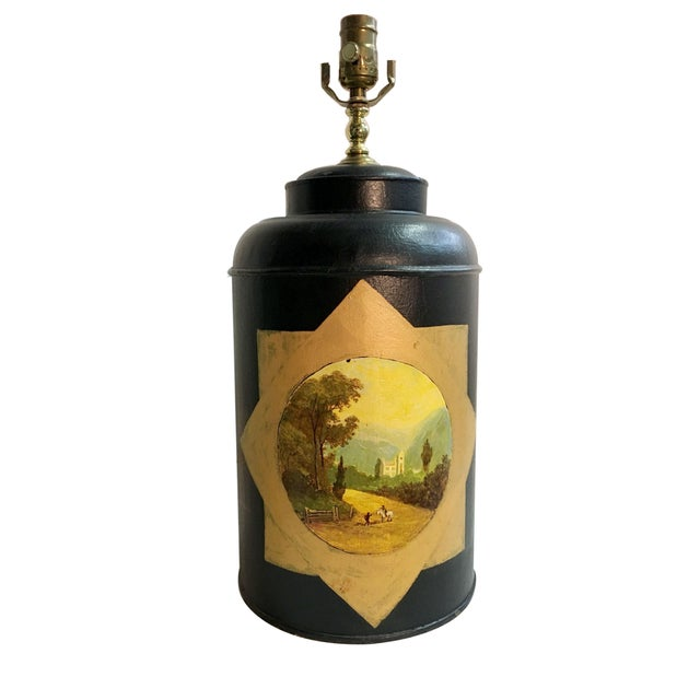 Metal English Export Tea Caddy Lamp For Sale - Image 7 of 7