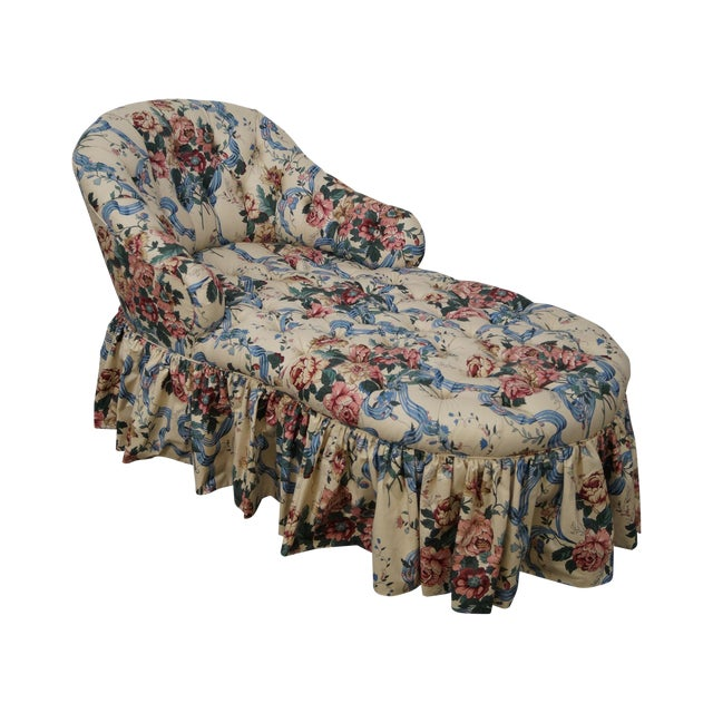 KayLyn Inc. Floral Upholstered Tufted Chaise Lounge - Image 1 of 10