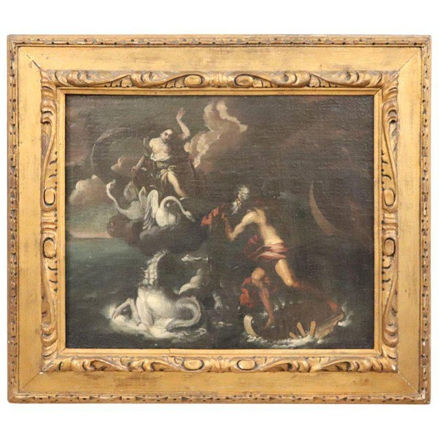 17th Century Italian Oil Painting on Canvas, Subject Mythological For Sale - Image 13 of 13