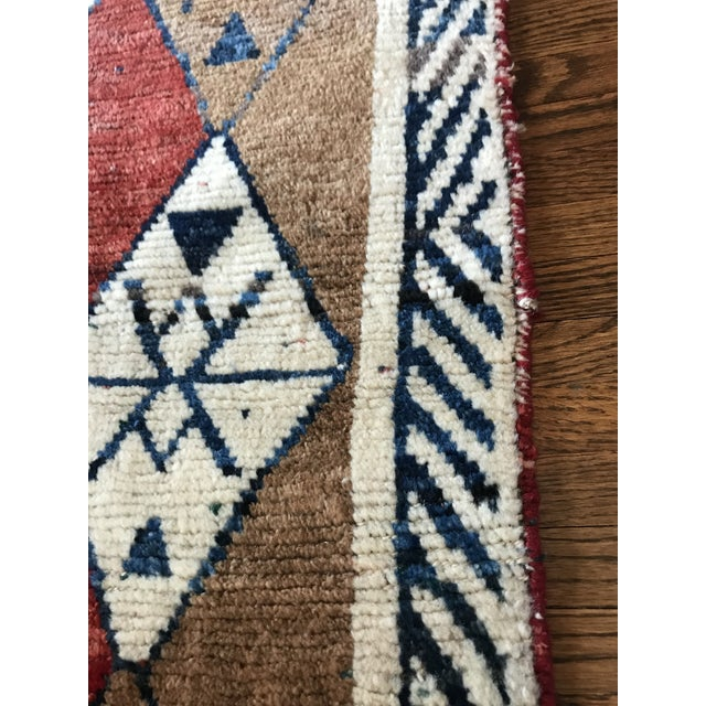 Hand Knotted Geometric Navy, Ivory, Copper and Rust Rug For Sale - Image 4 of 9