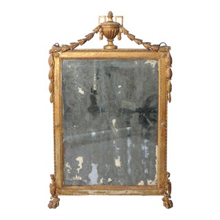 Early 18th Century Italian Giltwood Mirror For Sale