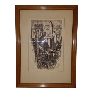 "Original ""Chicago Skyline"" Etching by Ac Webb C. 1930 For Sale"