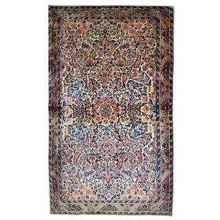 1920s Handmade Antique Persian Kerman Rug 3.1' X 5.2' For Sale