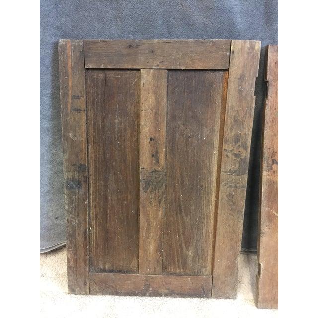 Vintage Rustic Wood Cabinet Doors - A Pair - Image 7 of 11